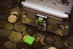 Συλλογή των παλαιών σοβιετικών νομισμάτων rubls Στοκ Εικόνες