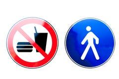 Συλλογή των σημαδιών απαγόρευσης στοκ εικόνες