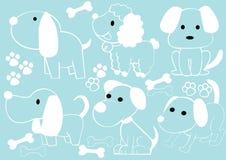 Συλλογή των σκυλιών κινούμενων σχεδίων Στοκ Εικόνες