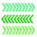 Συλλογή των στοιχείων σχεδίου watercolor που απομονώνονται στο άσπρο υπόβαθρο Καθορισμένα πράσινα λωρίδες Στοκ Φωτογραφίες