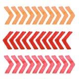 Συλλογή των στοιχείων σχεδίου watercolor που απομονώνονται στο άσπρο υπόβαθρο Καθορισμένα κόκκινα λωρίδες Στοκ εικόνα με δικαίωμα ελεύθερης χρήσης