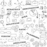 Συλλογή των στοιχείων infographics doodle Στοκ φωτογραφία με δικαίωμα ελεύθερης χρήσης