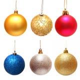 Συλλογή των σφαιρών Χριστουγέννων Στοκ εικόνες με δικαίωμα ελεύθερης χρήσης