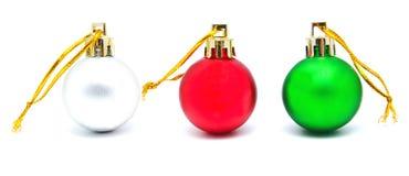 Συλλογή των τέλειων αναδρομικών σφαιρών Χριστουγέννων χρωμάτων που απομονώνεται Στοκ φωτογραφία με δικαίωμα ελεύθερης χρήσης
