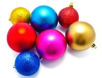 Συλλογή των τέλειων σφαιρών Χριστουγέννων χρωμάτων φωτογραφιών Στοκ εικόνες με δικαίωμα ελεύθερης χρήσης