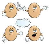 Τρυπημένο σύνολο αυγών Στοκ φωτογραφία με δικαίωμα ελεύθερης χρήσης