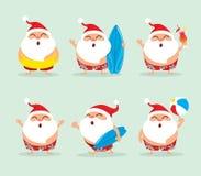 Συλλογή των Χριστουγέννων Άγιος Βασίλης - σύνολο 4 διανυσματική απεικόνιση
