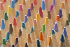 Συλλογή των χρωματισμένων ξύλινων μολυβιών στοκ φωτογραφίες με δικαίωμα ελεύθερης χρήσης