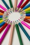 Συλλογή των χρωματισμένων ξύλινων μολυβιών στοκ φωτογραφία με δικαίωμα ελεύθερης χρήσης