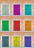 Συλλογή των χρωματισμένων πορτών Στοκ εικόνα με δικαίωμα ελεύθερης χρήσης