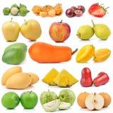Συλλογή φρούτων στο άσπρο υπόβαθρο στοκ εικόνα με δικαίωμα ελεύθερης χρήσης