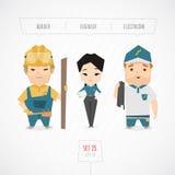 Συλλογή χαρακτήρων επαγγελμάτων Στοκ Εικόνες