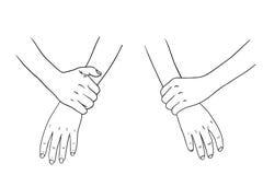 Συλλογή χεριών στο άσπρο υπόβαθρο Στοκ Εικόνα