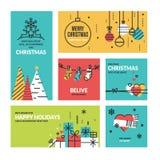 Συλλογή Χριστουγέννων και του νέου έτους Στοκ Φωτογραφία