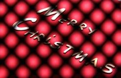 Συλλογή Χριστουγέννων, κιβώτιο δώρων, δέντρο και διακοσμητικές διακοσμήσεις, στο κόκκινο υπόβαθρο Στοκ Φωτογραφία