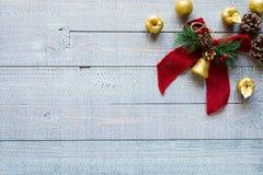 Συλλογή Χριστουγέννων, πέρα από το ξύλινο υπόβαθρο Στοκ φωτογραφίες με δικαίωμα ελεύθερης χρήσης