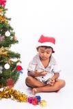 συλλογή Χριστουγέννων παιχνιδιού αγοριών Στοκ εικόνες με δικαίωμα ελεύθερης χρήσης