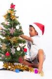 συλλογή Χριστουγέννων παιχνιδιού αγοριών Στοκ φωτογραφία με δικαίωμα ελεύθερης χρήσης