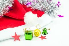 Συλλογή Χριστουγέννων που απομονώνεται στο λευκό Στοκ εικόνα με δικαίωμα ελεύθερης χρήσης