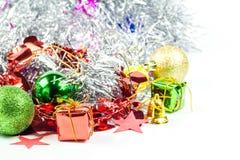 Συλλογή Χριστουγέννων που απομονώνεται στο λευκό Στοκ εικόνες με δικαίωμα ελεύθερης χρήσης