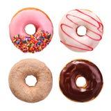 Συλλογή Donuts που απομονώνεται Στοκ Φωτογραφίες