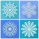 Συλλογή snowflakes των εικονιδίων Στοκ Εικόνα
