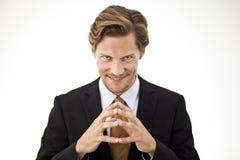 Συλλογιμένος τα δάχτυλα εκμετάλλευσης επιχειρηματιών από κοινού Στοκ φωτογραφίες με δικαίωμα ελεύθερης χρήσης