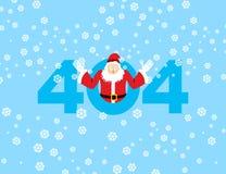 σφάλμα 404 Άγιος Βασίλης είναι έκπληξη Μην βριαλμένη σελίδων πρότυπο για ελεύθερη απεικόνιση δικαιώματος