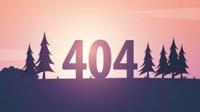 σφάλμα 404 βρήκε όχι τη σελίδα Πρότυπο UI UX για τον ιστοχώρο επίσης corel σύρετε το διάνυσμα απεικόνισης Στοκ φωτογραφίες με δικαίωμα ελεύθερης χρήσης