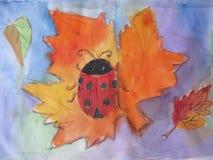 Σφένδαμνος φύλλων φθινοπώρου μπατίκ, βαλανιδιά, σημύδα Στοκ εικόνες με δικαίωμα ελεύθερης χρήσης