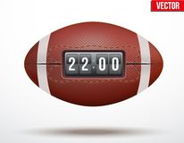 Σφαίρα αμερικανικού ποδοσφαίρου με το αποτέλεσμα του παιχνιδιού Στοκ φωτογραφία με δικαίωμα ελεύθερης χρήσης