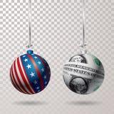 Σφαίρα αμερικανικών δολαρίων απεικόνιση αποθεμάτων