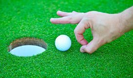 Σφαίρα γκολφ στοκ φωτογραφία με δικαίωμα ελεύθερης χρήσης
