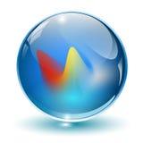 σφαίρα γυαλιού κρυστάλ&lambda απεικόνιση αποθεμάτων