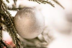 Σφαίρα διακοσμήσεων χριστουγεννιάτικων δέντρων Στοκ φωτογραφία με δικαίωμα ελεύθερης χρήσης
