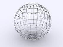 σφαίρα δικτυωτού πλέγματ&omi Στοκ Εικόνα