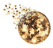 Σφαίρα καθρεφτών Disco που σπάζει στα τεμάχια διανυσματική απεικόνιση