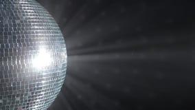 Σφαίρα καθρεφτών Disco. απόθεμα βίντεο
