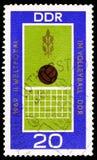 Σφαίρα και καθαρός, παγκόσμια πρωταθλήματα serie, circa 1969 στοκ εικόνες με δικαίωμα ελεύθερης χρήσης