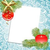 Σφαίρα και κερί. Χριστούγεννα. ελεύθερη απεικόνιση δικαιώματος
