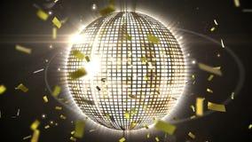 Σφαίρα και κομφετί Disco ελεύθερη απεικόνιση δικαιώματος