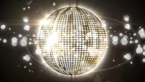 Σφαίρα και bokeh φω'τα Disco ελεύθερη απεικόνιση δικαιώματος