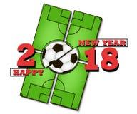 Σφαίρα καλής χρονιάς και ποδοσφαίρου Στοκ εικόνα με δικαίωμα ελεύθερης χρήσης