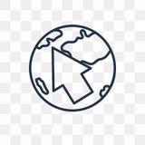 Σφαίρα με το διανυσματικό εικονίδιο δεικτών που απομονώνεται στο διαφανές backgroun διανυσματική απεικόνιση