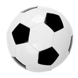 Σφαίρα ποδοσφαίρου δέρματος στοκ εικόνες με δικαίωμα ελεύθερης χρήσης