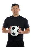 Σφαίρα ποδοσφαίρου εκμετάλλευσης ατόμων Στοκ εικόνες με δικαίωμα ελεύθερης χρήσης