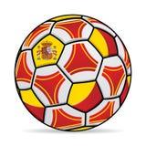 Σφαίρα ποδοσφαίρου με τα χρώματα της σημαίας της Ισπανίας Στοκ φωτογραφίες με δικαίωμα ελεύθερης χρήσης