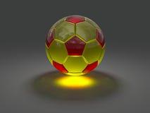 Σφαίρα ποδοσφαίρου με την καυστική επίδραση Στοκ εικόνα με δικαίωμα ελεύθερης χρήσης