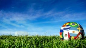 Σφαίρα ποδοσφαίρου ομάδων της Αργεντινής για την αθλητική εκδήλωση της Ρωσίας στοκ φωτογραφία με δικαίωμα ελεύθερης χρήσης