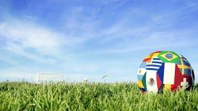 Σφαίρα ποδοσφαίρου ομάδων της Γαλλίας για την αθλητική εκδήλωση της Ρωσίας στοκ φωτογραφία με δικαίωμα ελεύθερης χρήσης